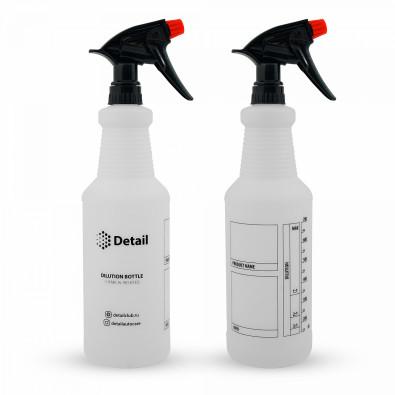 Бутылка со шкалой и химстойким триггером Detail 1л арт. DT-0300