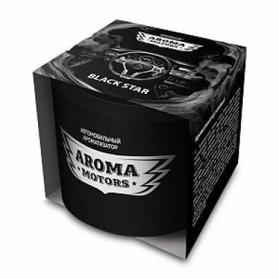 Ароматизатор гелевый «Aroma Motors» BLACK STAR в картонной упаковке (круглый) 100мл арт. AC-0171