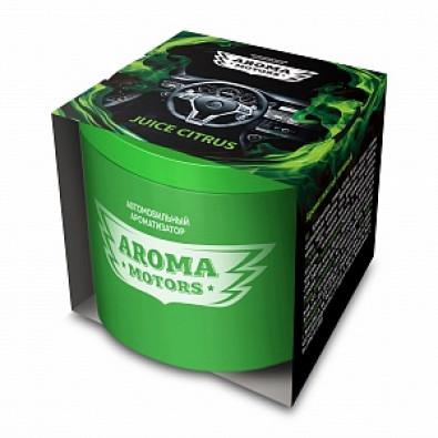 Ароматизатор гелевый «Aroma Motors» JUICE CITRUS в картонной упаковке (круглый) 100мл арт. AC-0172
