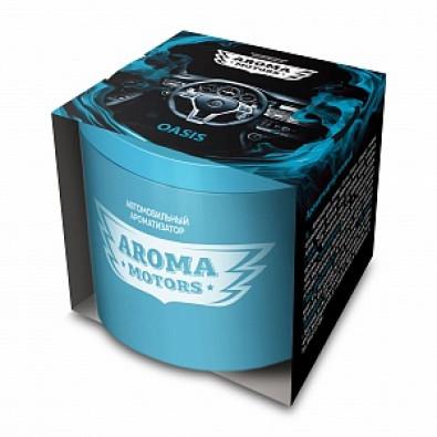 Ароматизатор гелевый «Aroma Motors» OASIS в картонной упаковке (круглый) 100мл арт. AC-0173