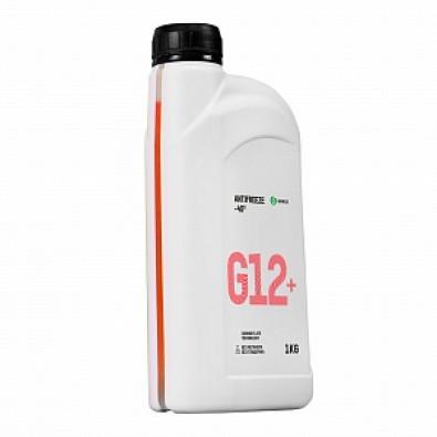 """Жидкость охлаждающая низкозамерзающая """"Антифриз G12+ -40"""" (канистра 1 кг) арт. 110331"""