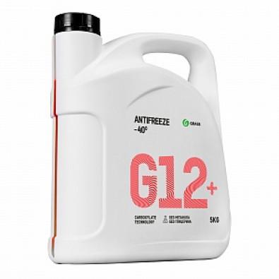 """Жидкость охлаждающая низкозамерзающая """"Антифриз G12+ -40"""" (канистра 5 кг) арт. 110332"""