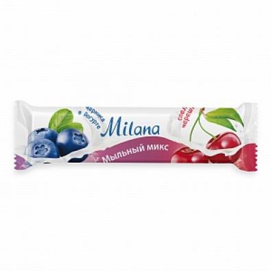 """Мыло туалетное """"Milana мыльный микс"""" черника в йогурте & спелая черешня арт. 125512"""