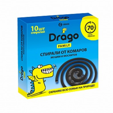 Средство инсектицидное «Спираль от комаров – эффект» Drago (10 спиралей) арт. NS-0004