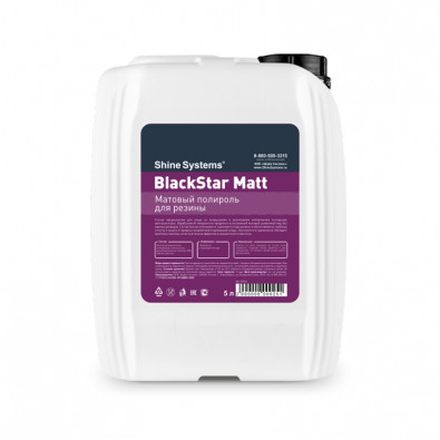 BlackStar Matt - матовый полироль для резины, 5 л Арт.:SS944