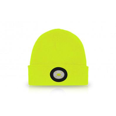 Шапка с фонариком желтая 150 Lm USB |UNILITE. Артикул: BE-02+Y