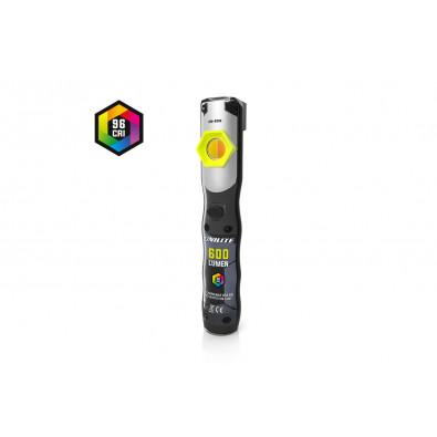 Инспекционный фонарь CRI 96+, 600 Lm, 5 цвет. темп.+ УФ, 2500 mAh, IP65 | UNILITE. Артикул: CRI-600R