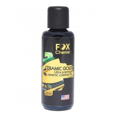 Керамическое покрытие для защиты кузова Ceramica gold 9H. 50мл. FOX Chemie. C-50