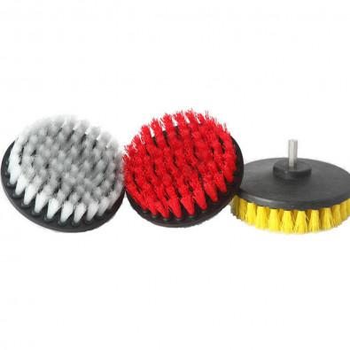 Diameter direct mount rotary brush набор щеток для уборки интерьера на шуруповерт (шестигранник). DW-CB021