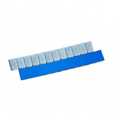 Груза адгезивные Fe 070 12×5 гр (Синий скотч) (Zn) (100 шт.)